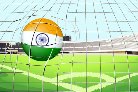 Illustration of a ball with the flag of India Vector