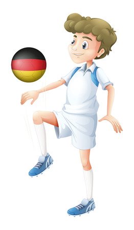 footwork: Illustration of a football player from Germany on a white background