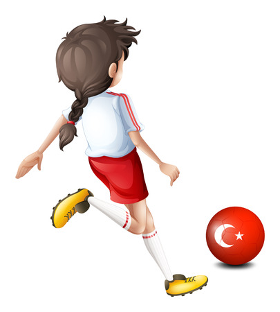 Illustration of a soccer player from Turkey on a white background Vector