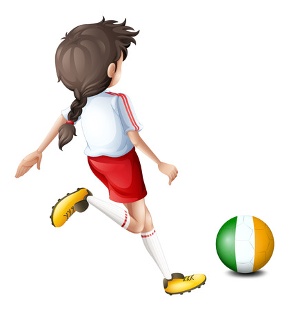 Illustration of a soccer player from Ireland on a white background Vector