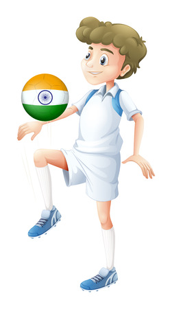 Illustration of a soccer player from India on a white background Vector