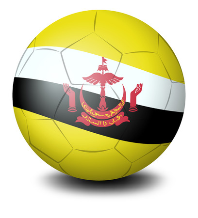brunei: Illustration of a ball with the flag from the country of Brunei