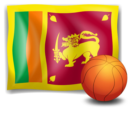 srilanka: Illustration of a ball with the flag of Sri Lanka on a white background Illustration