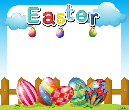 Illustration of an Easter Sunday template Vector