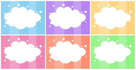 Illustration of the six empty templates on a white background Vector