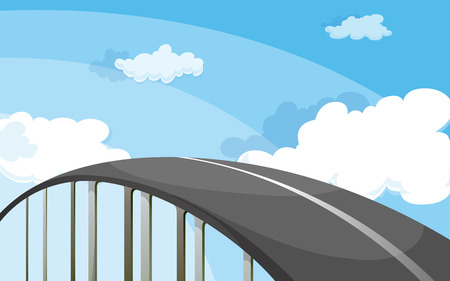 tollway: Illustration of a highway Illustration
