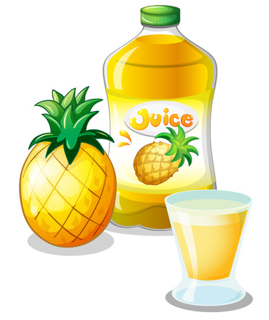 pineapple juice: Illustration of the pineapple juice drink on a white background