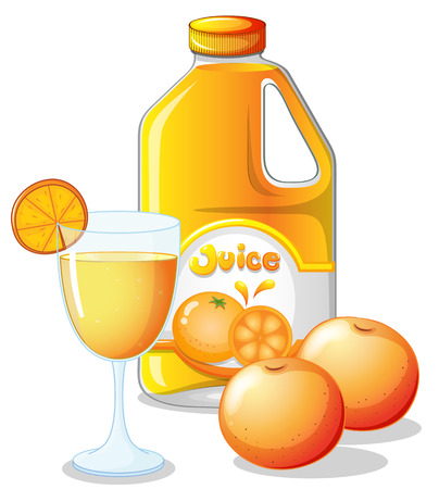 chilled: Illustration of an orange juice on a white background
