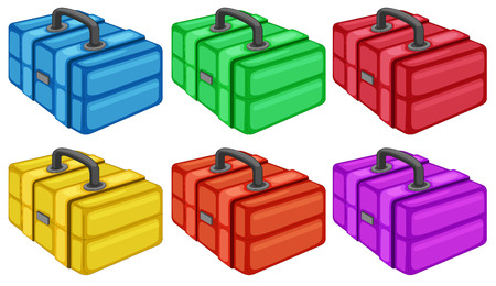 Illustration of the six colorful boxes on a white background Vector