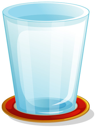 Illustration of a clear drinking glass on a white background Vector