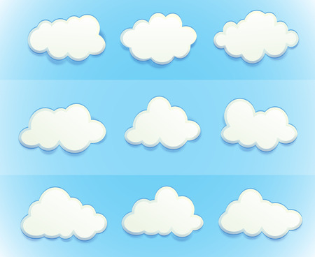 Illustration of the clouds in the sky Vector