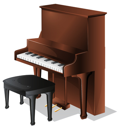 stool: Illustration of a piano on a white background