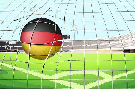 footwork: Illustration of a soccer ball with the flag of Germany Illustration