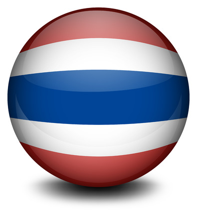 footwork: Illustration of a ball from Thailand on a white background