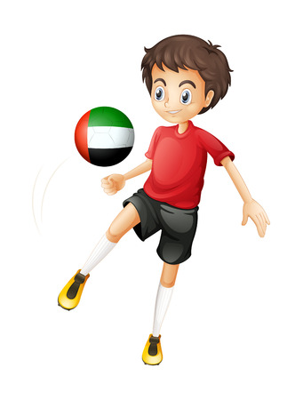 Illustration of a player from the United Arab Emirates on a white background Illustration