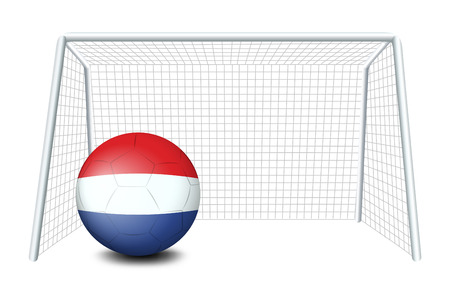 tricoloured: Illustration of a ball with the flag of Netherlands on a white background Illustration