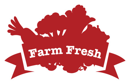 Illustration of a farm fresh label on a white background Vector