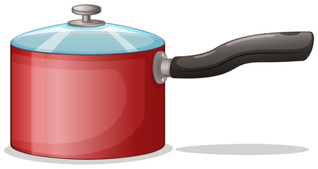 chinaware: Illustration of a cooking pot on a white background
