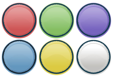 melaware: Illustration of the colourful plates on a white background