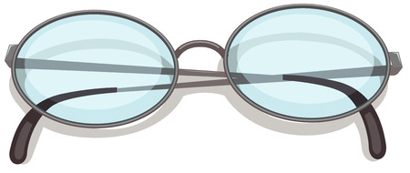Illustration of an eyeglass on a white background