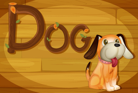 Illustration of a frame with a dog Vector