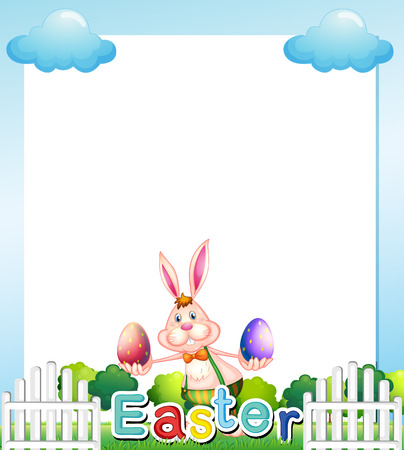 Illustration of an Easter Sunday empty card template Vector