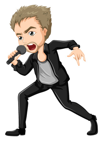 males: Illustration of a solo performer on a white background