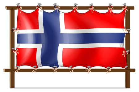 nailed: Illustration of a frame with the flag of Norway on a white background