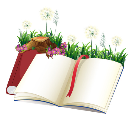 storybook: Illustration of an empty storybook on a white background Illustration