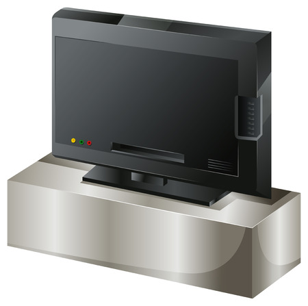 invent things: Illustration of a flat screen television on a white background