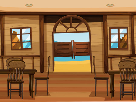 Illustration of a saloon bar Vector