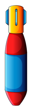 destructive: Illustration of a colourful bomb on a white background