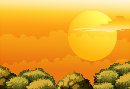 Illustration of a sunny day