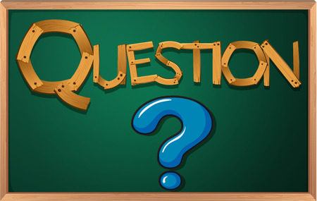 Illustration of a blackboard with a question mark Vector
