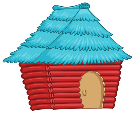 Illustration of a colourful native house on a white background Vector