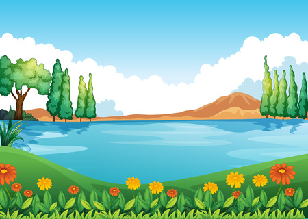 Illustration of a beautiful pic of nature Vector
