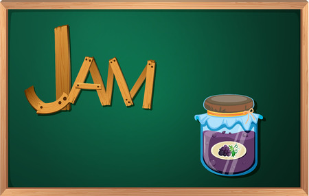 Illustration of a blackboard with a jam Vector