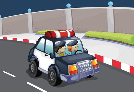 enforcer: Illustration of a police car