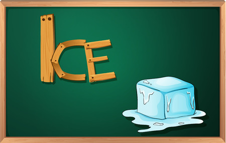 Illustration of a blackboard with an ice Illustration