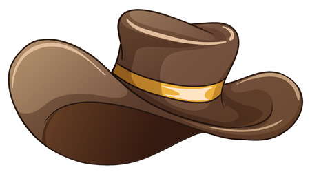 Illustration of a brown hat on a white background Vector