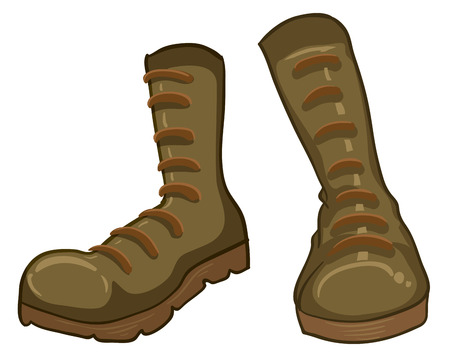 Illustration of a pair of boots on a white background Vector