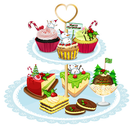 Illustration of the baked goods on a white background Vector