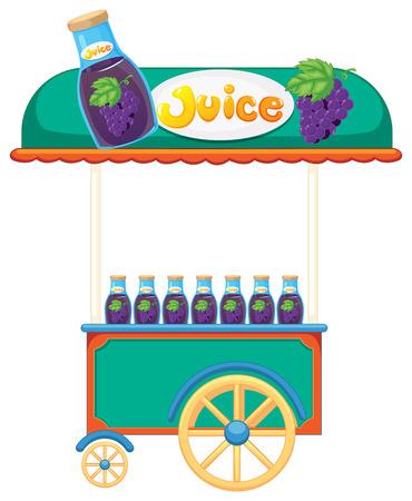 improvised: Illustration of a juice cart on a white background Illustration