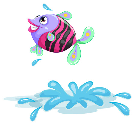 food clipart: Illustration of a colourful fish on a white background Illustration