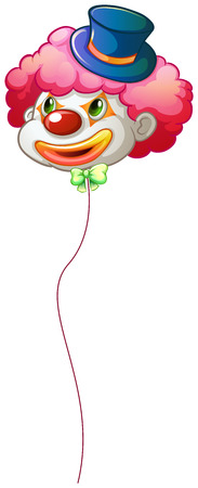 Illustration of a colourful clown balloon on a white background Vector