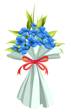 Illustration of a boquet of flowers on a white background Vector