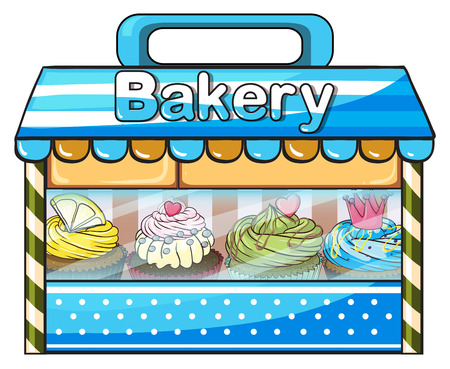 specialty store: Illustration of a bakery on a white background Illustration