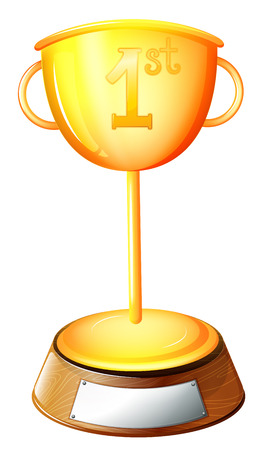 victorious: Illustration of a trophy on a white background