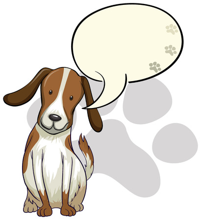 bestfriend: Illustration of a dog thinking on a white background