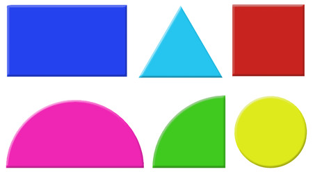 Illustration of the different shapes on a white background Vector